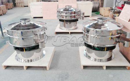 时产600KG石英粉可以用不锈钢旋振筛处理吗?