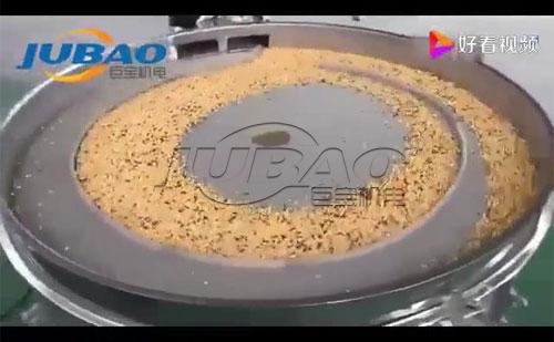 圆形摇摆筛筛分杂粮试机视频