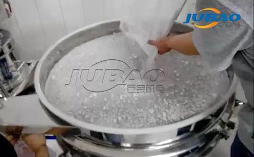 粉末类物料结块筛分处理视频