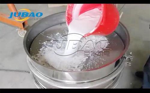 三次元振动筛石灰乳筛分过滤试机
