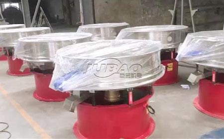 江西客户订购的陶瓷泥浆振动筛整装