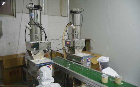 无锡粉料混合机真空上料设备客户生
