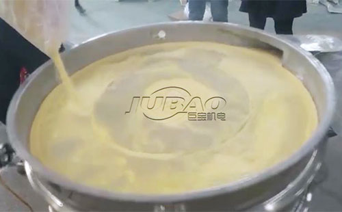 巨宝玉米面粉大型旋振筛试机视频