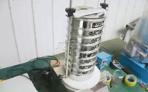 巨宝机电标准检验筛车间试机视频