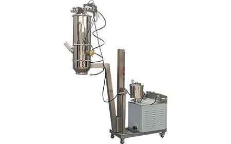 黑龙江杨总二氧化硅用真空上料机试物料流动性