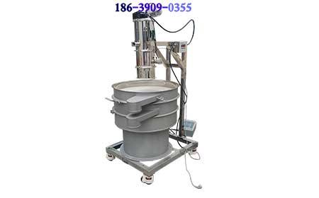 马来西亚客户订购的气动式真空上料机QVC-2和超声波振动筛发货前带料试机